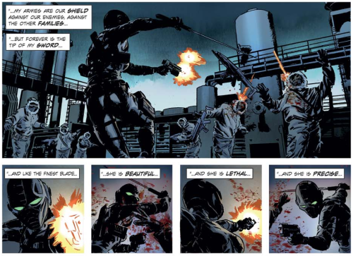 From Lazarus #1 by Greg Rucka and Michael Lark